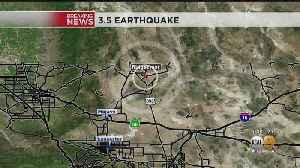 3.5-Magnitude Earthquake Hits Near Ridgecrest [Video]