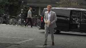 Prince Harry arrives in Amsterdam to launch new travel partnership