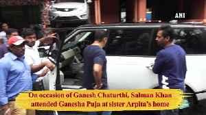Salman Khan attends Ganesha Puja at sister Arpita home [Video]