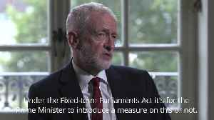 News video: Jeremy Corbyn: No deal prevention is the priority over a general election