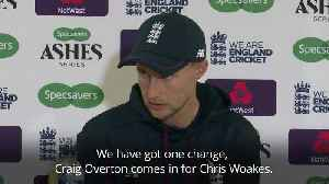News video: Joe Root confirms Overton replaces Woakes for fourth Ashes Test