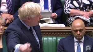 News video: Boris Johnson and Jeremy Corbyn clash before no-deal Brexit vote