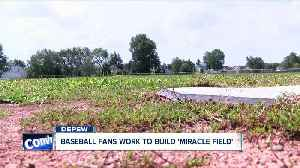 Baseball fans work to build 'miracle field' [Video]