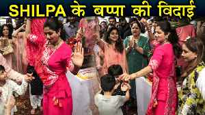 Shilpa Shetty & Raj Kundra ENERGETIC Dance With Son Viaan During Ganpati Visarjan [Video]