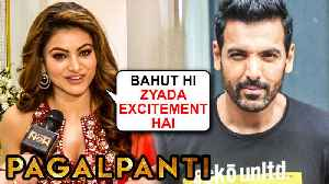 Urvashi Rautela On Film Pagalpanti | John Abraham, Anil Kapoor, Ileana Dcruz | EXCLUSIVE INTERVIEW [Video]