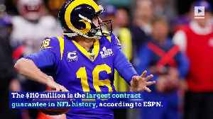Jared Goff Agrees to $134 Million Extension With Rams [Video]