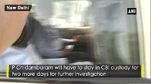 INX Media case SC extends Chidambaram's custody for 2 more days [Video]