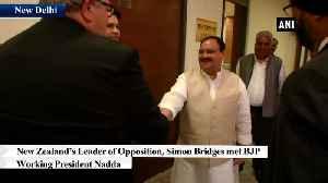 JP Nadda meets New Zealand's LoP Simon Bridges in Delhi [Video]