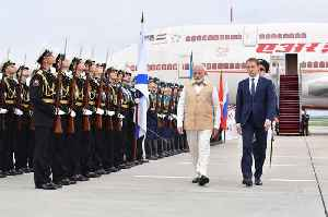 PM Modi arrives in Russia for two-day visit, receives guard of honour [Video]