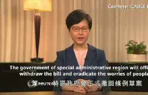 Hong Kong leader formally withdraws controversial extradition bill [Video]