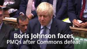 News video: Boris Johnson faces PMQs before debate on bid to stop no-deal