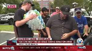 Donation drive underway in West Palm Beach to aid Dorian victims in the Bahamas [Video]