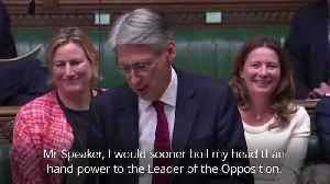 Philip Hammond: I would sooner boil my head than hand power to the opposition [Video]