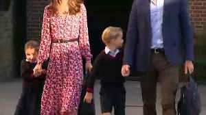 News video: Princess Charlotte arrives for her first day at school