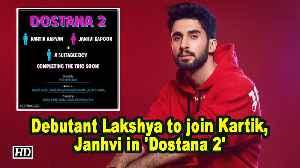 Debutant Lakshya to join Kartik, Janhvi in 'Dostana 2' [Video]