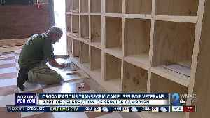 Organizations transform campuses for veterans as part of Celebration of Service [Video]