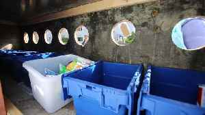 Couple set up free recycling centre on their drive [Video]