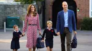 George and Charlotte Have Their First Day of School [Video]