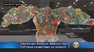 News video: Morticians Preserve Tattooed Skin Of Dead Loved Ones As Artwork