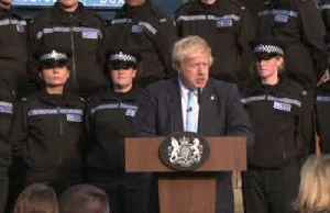 Police trainee takes ill during UK PM Johnson speech [Video]
