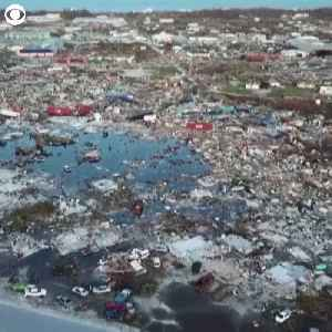 WEB EXTRA: Drone Captures Chilling View Of Hurricane Dorian's Destruction Across Bahamas [Video]