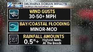 Dorian Impacts Portions Of Maryland Friday [Video]