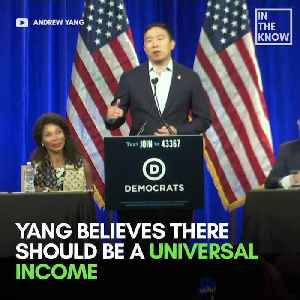 Presidential candidate Andrew Yang's idea of universal income is getting a test run [Video]