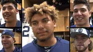 Padres rookies discuss what they've learned; advice, perks of big leagues [Video]