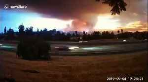 Time-lapse footage of devastating Southern California fire that destroyed 2,000 acres and forced evacuations [Video]