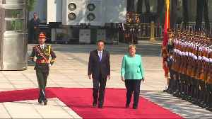 News video: Merkel addresses Hong Kong during Beijing visit