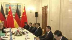 Xi destaca ante Merkel su postura común con Europa de apoyar libre comercio [Video]