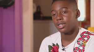 News video: Teen Football Player Loses Over 20 Pounds, But It Doesn't Matter