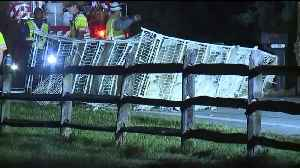Man Taken to the Hospital, Several Turkeys Dead After Truck Overturns in Pennsylvania [Video]