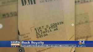 Seattle record store finds Kurt Cobain royalty cheque