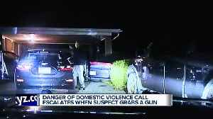 Dashcam video: Roseville police open fire on man who points gun at them [Video]