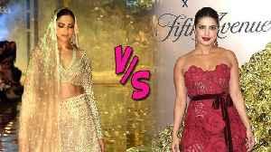 Deepika Padukone's New Bridal Look VS Priyanka Chopra Vanity Fair Party 2019 [Video]