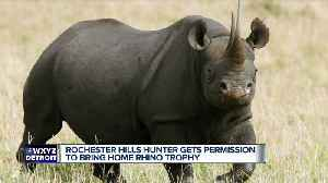 News video: US to allow Michigan trophy hunter to import body of rare black rhino