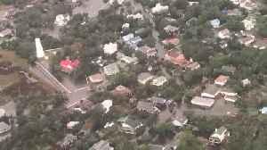 Aerial footage of damage in Ocracoke Island, North Carolina [Video]