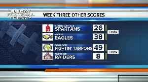 High School Football final scores week 3 [Video]