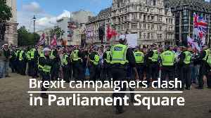 Pro and anti-Brexit demonstrators clash on Parliament Square [Video]