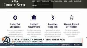 Liberty State booth sets up at fair, despite petition against it [Video]