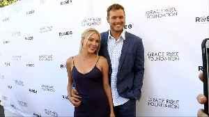 Cassie Randolph and Colton Underwood 16th Annual Grace Rose Fashion Fundraiser Purple Carpet [Video]