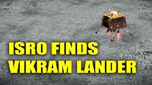News video: ISRO spots Vikram Lander on lunar surface, orbiter captures image | Oneindia News