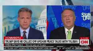 Tapper and Pompeo clash over peace talks with the Taliban [Video]