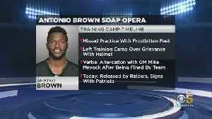 News video: Antonio Brown Exits Raiders, Signs With New England Patriots Same Day