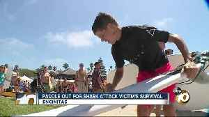 Community paddles out for boy who survived 2018 Shark attack [Video]