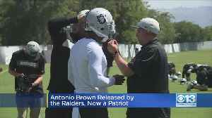 News video: Antonio Brown Cut By Raiders, Signed By New England