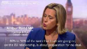 Amber Rudd: 80% to 90% of government time spent preparing for no-deal [Video]