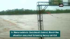 Heavy rainfall leads to flood like situation in Maharashtra Gadchiroli [Video]