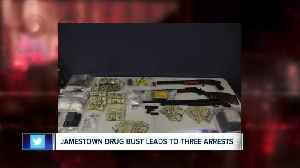 Three arrested, guns, drugs, ammunition and cash seized in Jamestown [Video]
